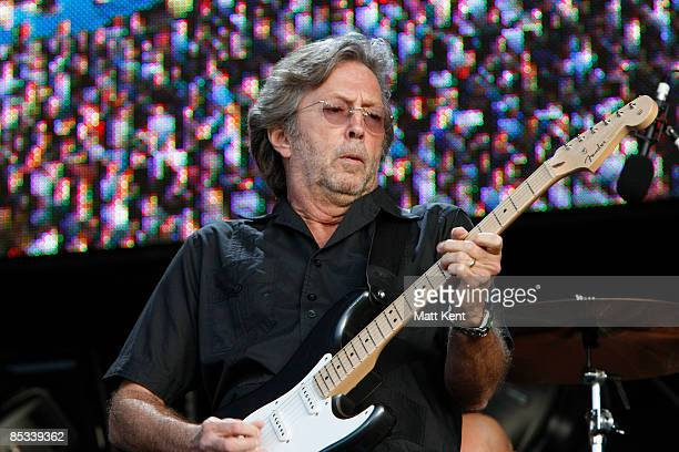PARK Photo of Eric CLAPTON performing live onstage at Hard Rock Calling playing Fender Stratocaster guitar
