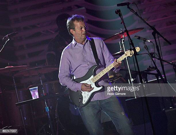 Photo of Eric CLAPTON performing live onstage at SECC