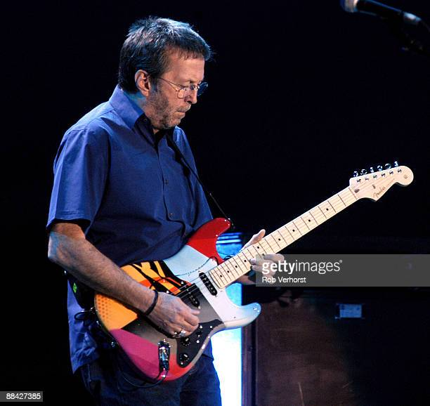 AHOY Photo of Eric CLAPTON performing live onstage playing 'Crash3' Fender Stratocaster guitar