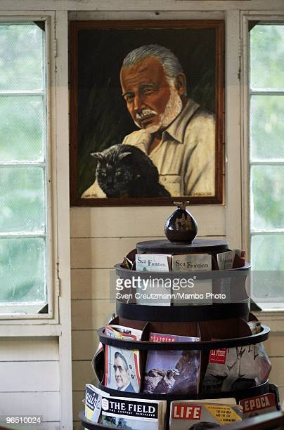 A photo of Ernest Hemingway at his guest house at the Finca Vigia on December 4 2006 in Havana Cuba The Hemingway Finca Vigia now turned into a...