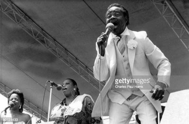 Photo of Ernie K-Doe at the New Orleans Jazzfest 1989