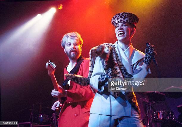 Photo of EURYTHMICS Dave Stewart Annie Lennox att he Theatre Royal Drury Lane