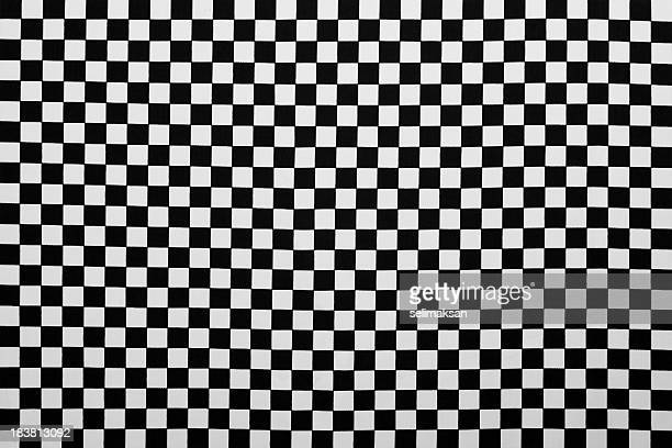 Photo Of Fabric As Black And White Plaid Background
