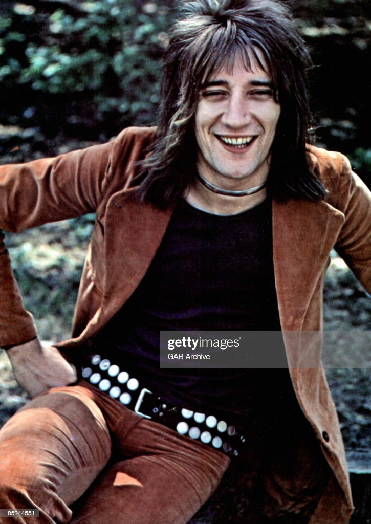 Rod Stewart in 1971 - with studded belt for the ultimate rock star look. But mullet or feather cut?