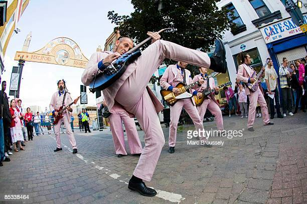Photo of LA FANFARE ELECTRIQUE La Fanfare Electrique performing in the street as part of the Greenwich and Docklands International Festival The is an...