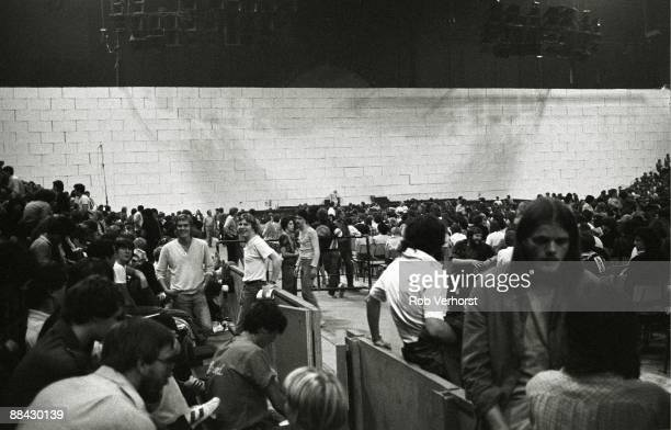 COURT Photo of FANS and CONCERT and PINK FLOYD Fans at Pink Floyd concert The Wall tour