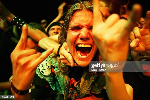 Photo of FANS and HEAVY METAL fans at an Iron Maiden concert