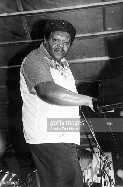 Photo of Fats Domino at the Grande Parade du Jazz Nice France 1985