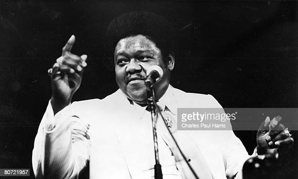Photo of Fats Domino at the Hammersmith Odeon London 1981