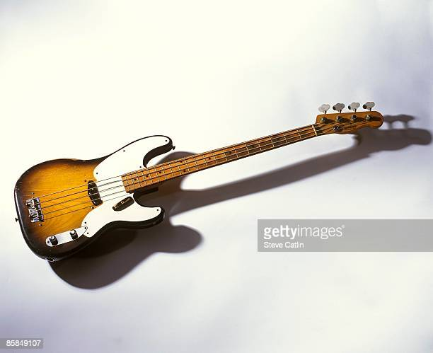 UNSPECIFIED CIRCA 2000 Photo of FENDER GUITARS and BASS GUITAR and FENDER PRECISION BASS 1955 model [708] still life studio