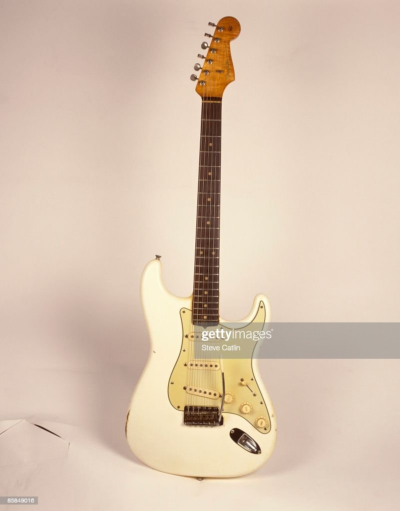 UNSPECIFIED - CIRCA 2000 Photo of FENDER GUITARS and GUITAR and FENDER STRATOCASTER; 1962 model in Olympic White - [138] - still life, studio