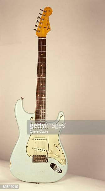UNSPECIFIED CIRCA 2000 Photo of FENDER GUITARS and GUITAR and FENDER STRATOCASTER '62 Relic model in Sonic Blue [136] still life studio