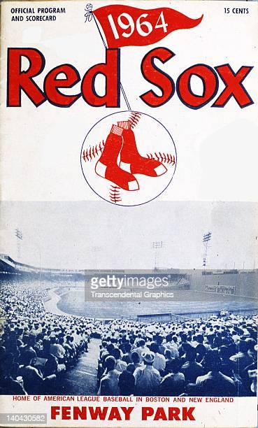 A photo of Fenway Park is on the cover of the 1964 program scorecard printed in Boston Massachusetts in 1964