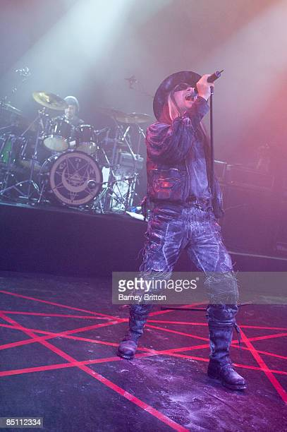 S BUSH EMPIRE Photo of FIELDS OF NEPHILIM and Carl McCOY Carl McCoy performing on stage