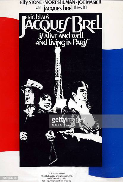 Photo of FILM POSTERS and Jacques BREL Film poster for Jacques Brel Is Alive And Well And Living In Paris