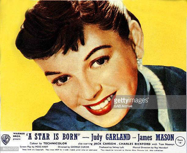 Photo of FILM POSTERS and Judy GARLAND; Film poster for A Star Is Born