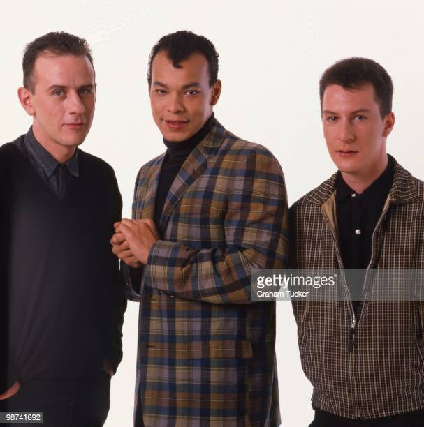 Roland gift stock photos and pictures getty images photo of fine young cannibals lr andy cox roland gift david steele negle Image collections