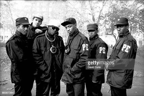 PARK Photo of Flavor FLAV and Chuck D and PUBLIC ENEMY BW Posed