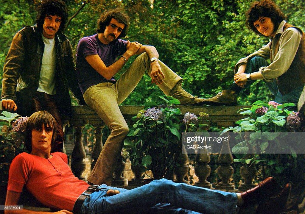 Photo of FLEETWOOD MAC; Grou portrait - Peter Green John McVie and Jeremy Spencer, Mick Fleetwood, front