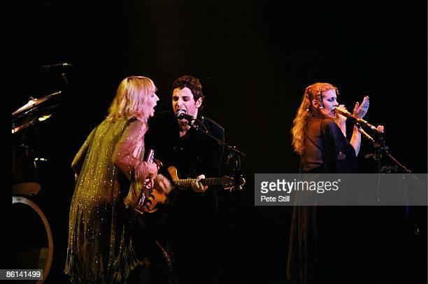 Christine McVie Lindsey Buckingham Stevie Nicks performing live onstage