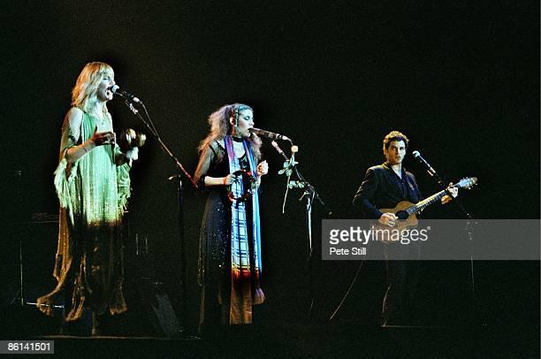 Photo of FLEETWOOD MAC, L-R: Christine McVie, Stevie Nicks, Lindsey Buckingham performing live onstage