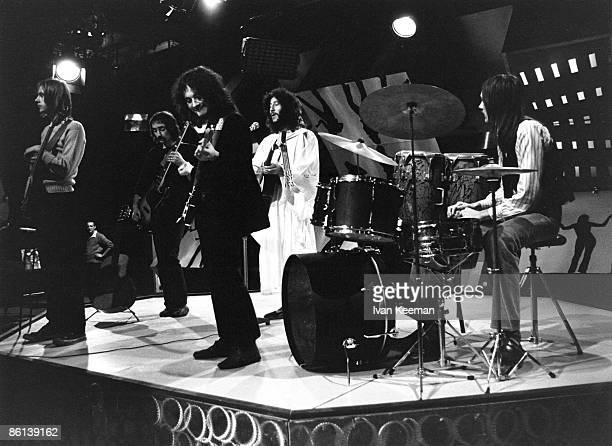 Danny Kirwan John McVie Jeremy Spencer Peter Green Mick Fleetwood performing on TV Show