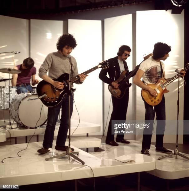 Photo of FLEETWOOD MAC LR Mick Fleetwood Jerermy Spencer John McVie Peter Green performing on TV Show