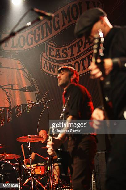 UNIVERSITY Photo of FLOGGING MOLLY and George SCHWINDT and Bob SCHMIDT Drummer George Schwindt and Bob Schmidt performing on stage