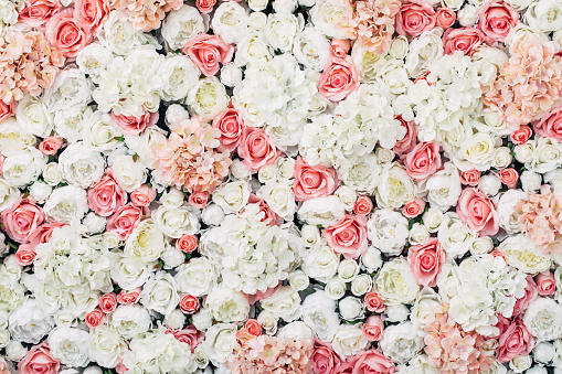 Photo of floral wall 922282474