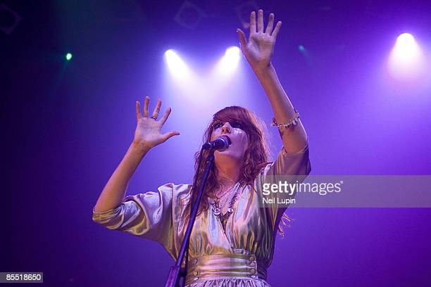 Photo of FLORENCE AND THE MACHINE and Florence WELCH, Florence Welch performing on stage as part of the iTunes Festival