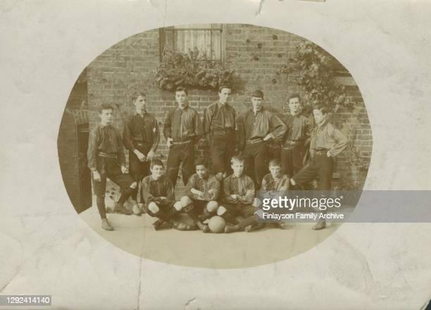 Photo of footballer Walter Tull in the Bonner Road Children's Home Football Team, probably taken in the early 1900s. Dr Stephenson's Bonner Road...