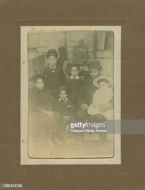 Photo of footballer Walter Tull's father, Daniel Tull, with Walter and his siblings, taken at their home in Folkestone, probably in 1895 following...