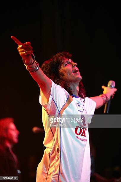 GUILDHALL Photo of FOREIGNER23 FOREIGNER LEAD SINGER KELLY HANSEN IN A PORTSMOUTH FOOTBALL CLUB AWAY SHIRT ON FOREIGNER'S 30TH ANNIVERSARY UK TOUR AT...
