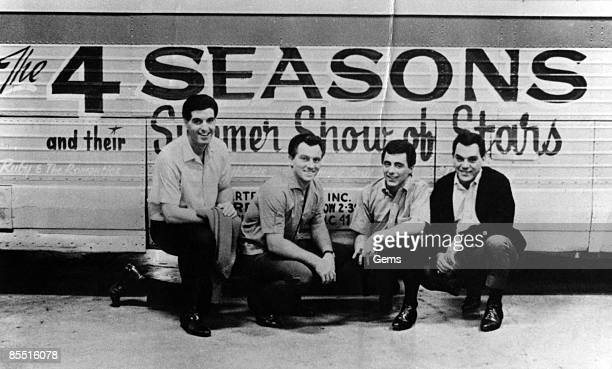 Photo of FOUR SEASONS and Frankie VALLI; With the Four Season group portrait - L-R Bob Gaudio, Tommy DeVito, Frankie Valli and Nick Massi