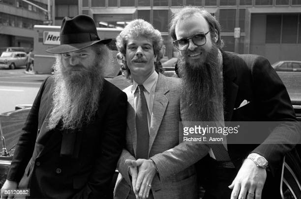 Photo of Frank BEARD and ZZ TOP and Dusty HILL and Billy GIBBONS LR Dusty Hill Frank Beard Billy Gibbons