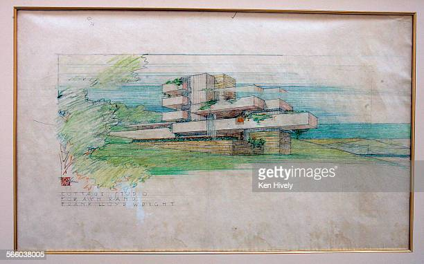 Photo of Frank Lloyd Wright's drawing of a proposed oceanview cottage for Ayn Rand that was never built Edward Cella has a new art and architecture...