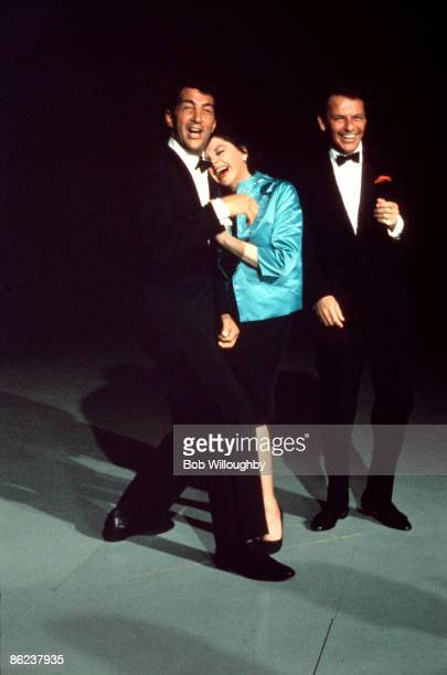 Photo of Frank SINATRA and Judy GARLAND and Dean MARTIN with Dean Martin Judy Garland rehearsing for The Judy Garland Show