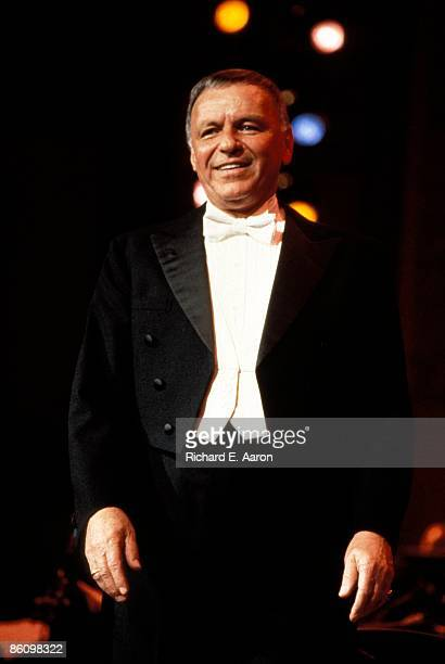 Photo of Frank SINATRA performing live onstage c1976