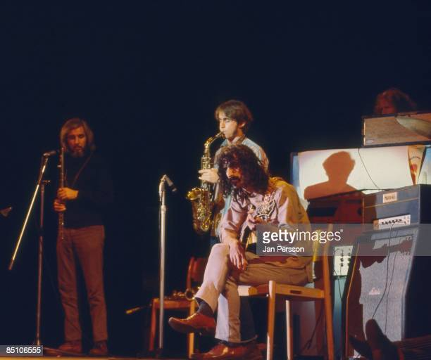 Photo of Frank ZAPPA and MOTHERS OF INVENTION Frank Zappa performing on stage with members of Mothers of Invention