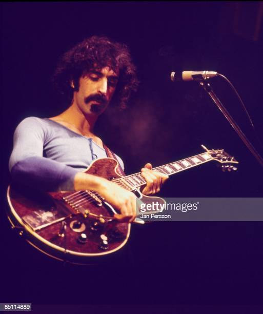 Photo of Frank ZAPPA Frank Zappa performing live onstage playing Gibson ES345 guitar