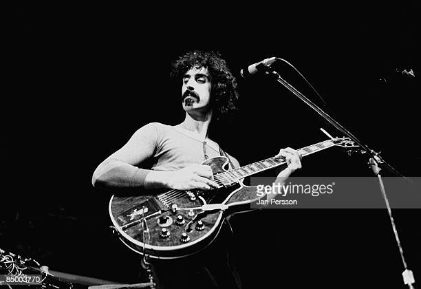 Photo of Frank ZAPPA performing live onstage playing Gibson ES355 guitar