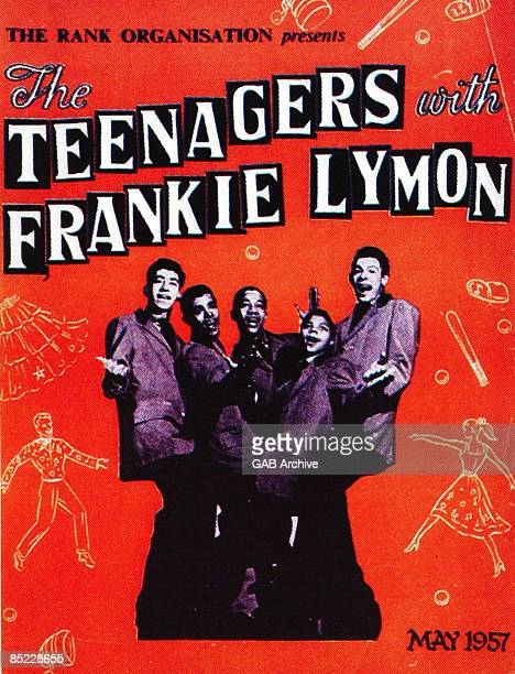 Photo of Frankie LYMON The Teenagers Tour poster May 1957