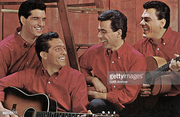Photo of Frankie VALLI and FOUR SEASONS featuring Frankie Valli group shot posed c early 1960s
