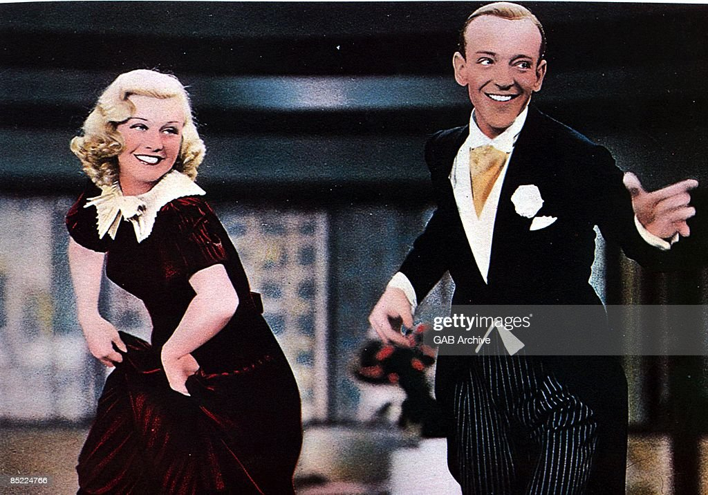 Fred Astaire And Ginger Rogers Dancing In Color