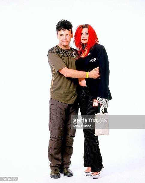 Photo of Gary NUMAN Posed studio portrait of Gary Numan with wife Gemma