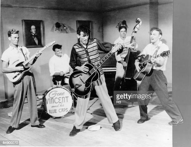 Photo of Gene VINCENT Gene Vincent and group performing on stage
