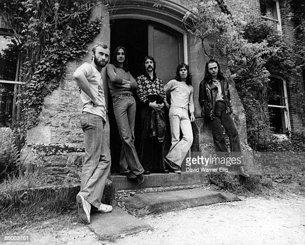 Photo of GENESIS and Tony BANKS and Peter GABRIEL and Phil COLLINS and Steve HACKETT and Mike RUTHERFORD LR Phil Collins Mike Rutherford Steve...