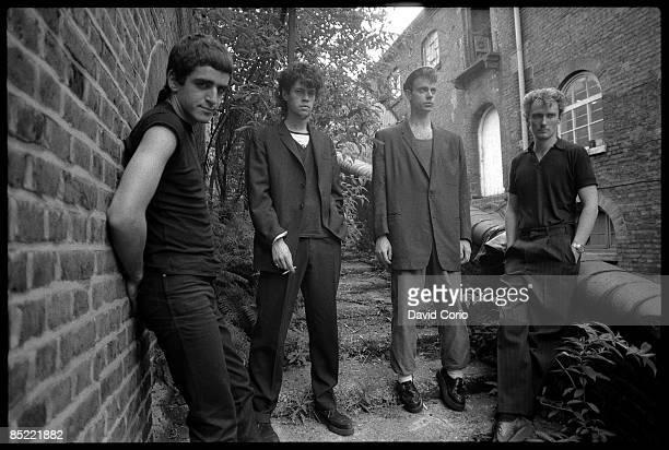 Photo of Geordie WALKER and Paul RAVEN and Jaz COLEMAN and KILLING JOKE LR Jaz Coleman Paul Raven Big Paul Ferguson Geordie Walker