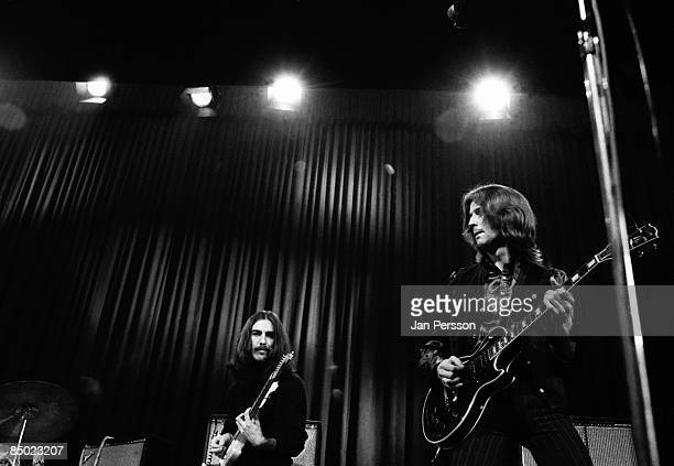 Photo of George Harrison 5 George Harrison Eric Clapton Copenhagen December 1969