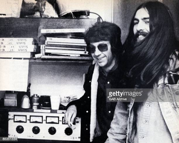 Photo of George HARRISON and Phil SPECTOR; Phil Spector with George Harrison